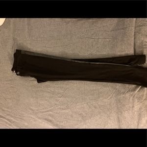 Black skinny pants with pleather trim from Rue21